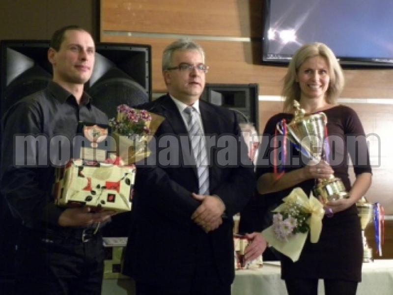 ИРЕНА ЦВЕТКОВА Е СПОРТИСТ №1 НА ВРАЦА ЗА 2011